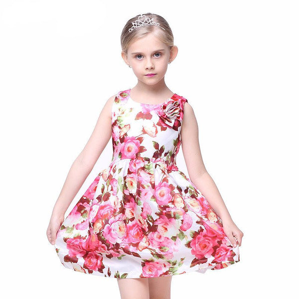 Belly Bow Floral Dress - amaze-mee store