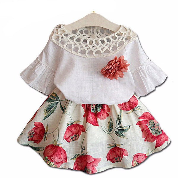 Bouquet Rose Baby Girls Set - amaze-mee store