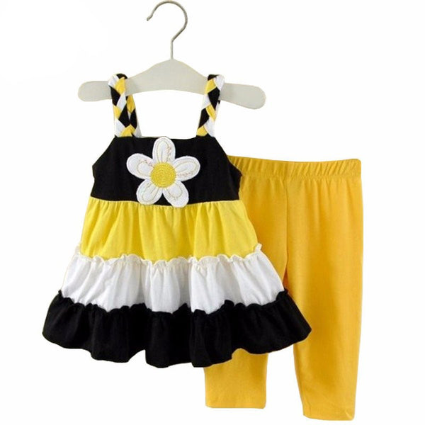 Daisy Stripes Toddler Play Outfit - amaze-mee store