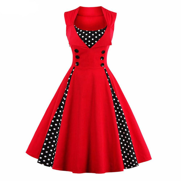 Mini Polka Dot Vintage Dress - amaze-mee store