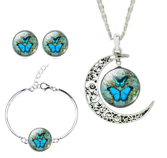 Butterfly Moon Necklace Set - amaze-mee store