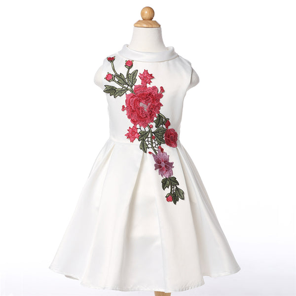 Floral Embroidery  Princess Party Dress - amaze-mee store