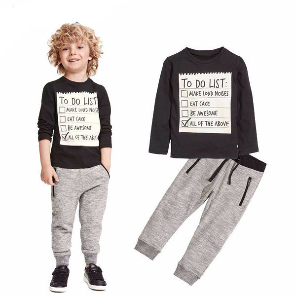 Boys To Do List Outfit - amaze-mee store