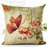 Butterfly Printed Throw Pillow Cover - amaze-mee store