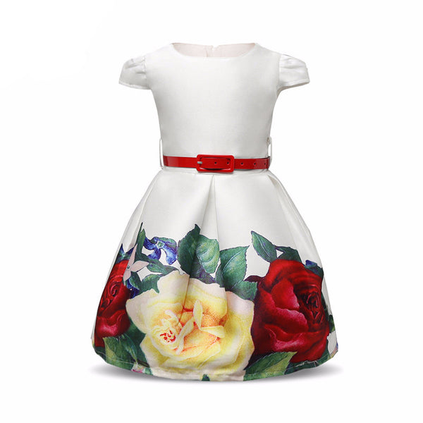 Belle Floral Girl Dress - amaze-mee store