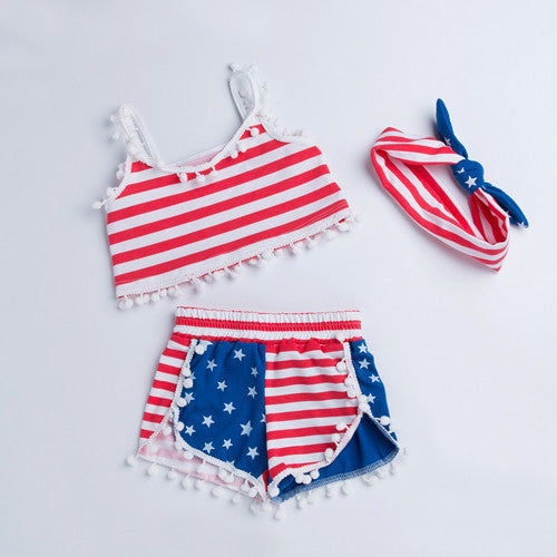 4th Of July Baby Girl Outfit - amaze-mee store
