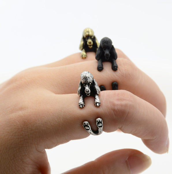 French Poodle Puppy Wrap Ring - amaze-mee store