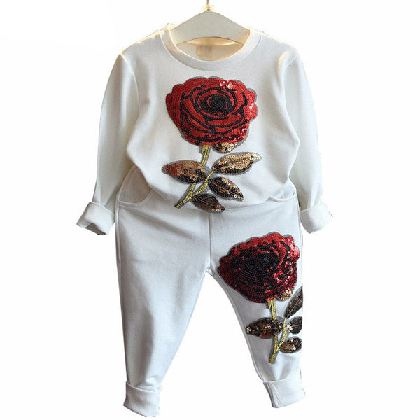 Sequin Rose Girls Set - amaze-mee store