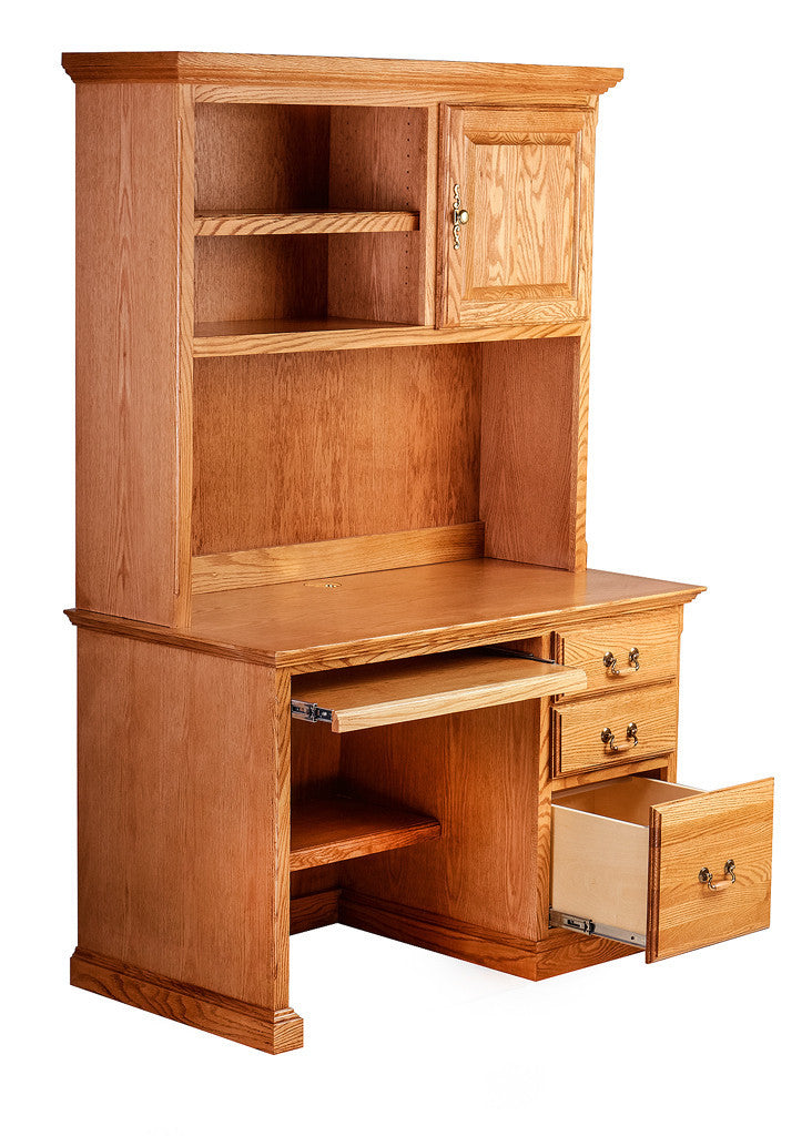 Forest Designs Traditional Desk w/ Keyboard Pullout & Hutch: 48W X 72H X 24D