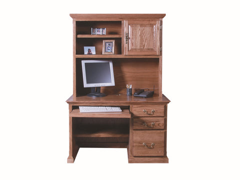 Forest Designs Traditional Desk: 48W X 30H X24D with Keyboard Pullout (No Hutch)