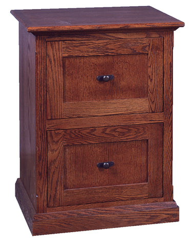 Forest Designs Mission Two Drawer File Cabinet: 22W x 30H x 21D