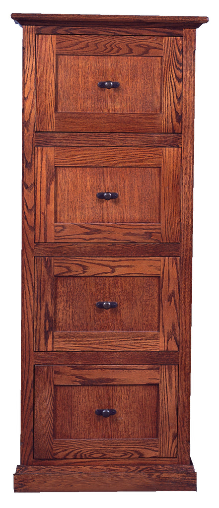 Forest Designs Mission Four Drawer File Cabinet: 22W x 56H x 21D