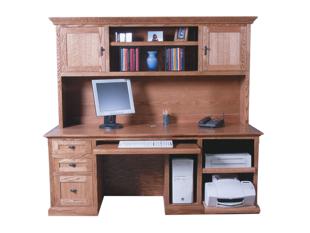 Forest Designs Mission Hutch for 1047: 76w x 42H x 13D (No Desk)