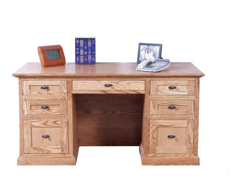 Forest Designs Mission Oak Desk: 60W x 30H x 28D