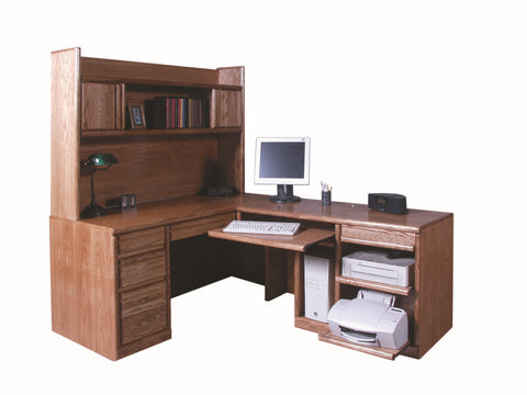 Forest Designs Bullnose Desk & Return & Hutch: 82 x 66