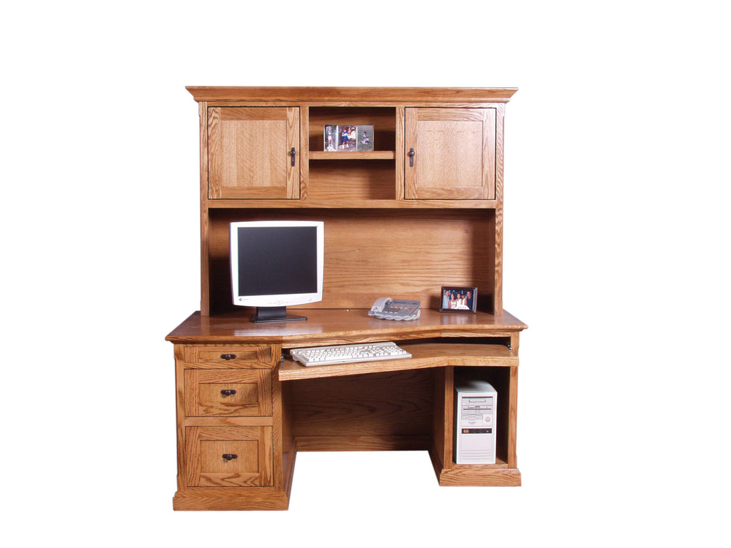 Forest Designs 60w Mission Angled Desk & Hutch