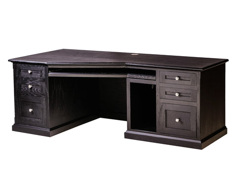 Forest Designs Mission Oak Angled Computer Desk: 74W x 29H x 35D