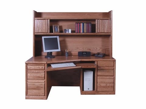 Forest Designs Bullnose Angled Desk: 74W x 29H x 35D (No Hutch)