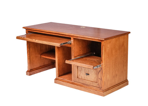 Forest Designs Mission Oak Desk: 60W x 30H x 24D