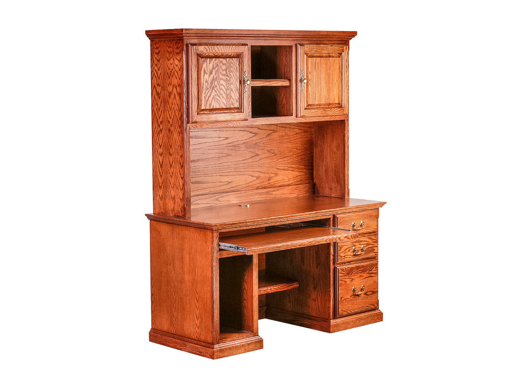 Forest Designs Traditional Oak Desk & Huch: 56w x 72h