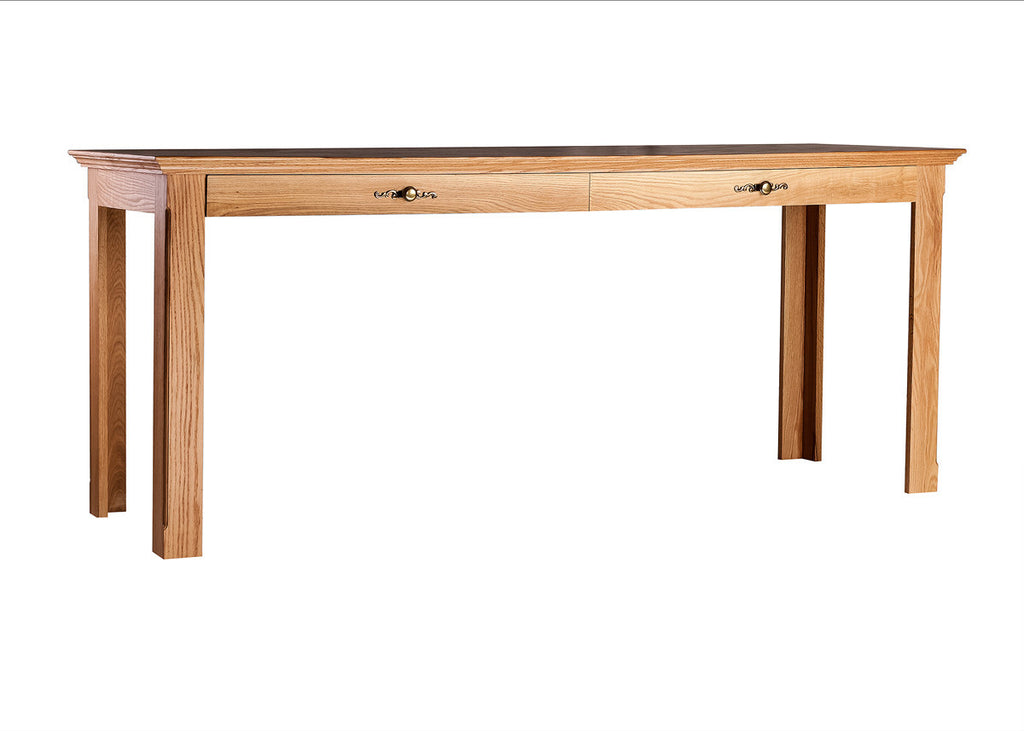 Forest Designs Traditional Oak Writing Table w/Drawers: 60W x 30H x 24D
