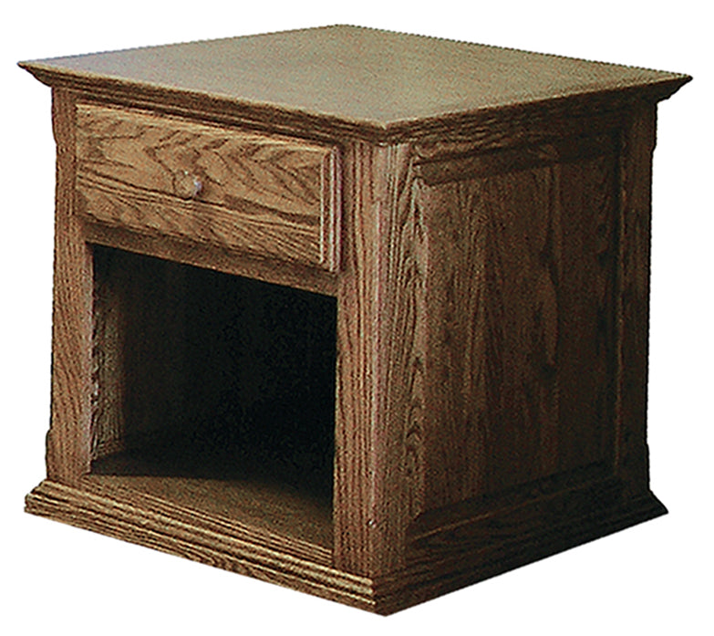 Forest Designs Traditional End Table with Raised Panel Sides: 20W x 25H x 24D
