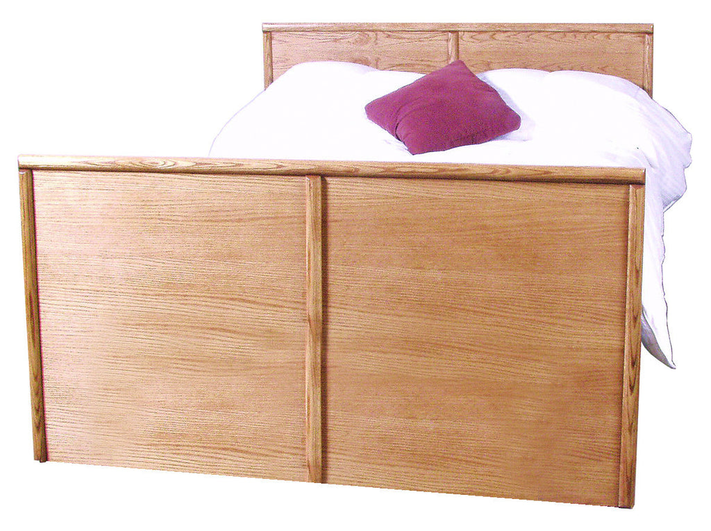 Forest Designs Bullnose Queen Panel Bed: 64W x 93D X 49H