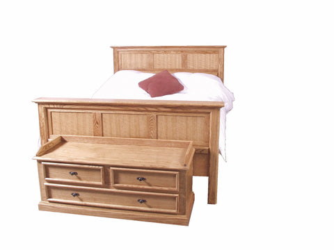 Forest Designs Mission Oak Queen Panel Bed: 64W x 49H x 93D (No Chest)