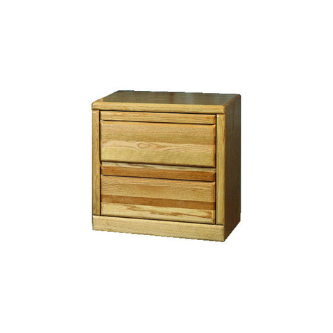 Forest Designs Bullnose Two Drawer Nightstand: 25W x 30H x 18D