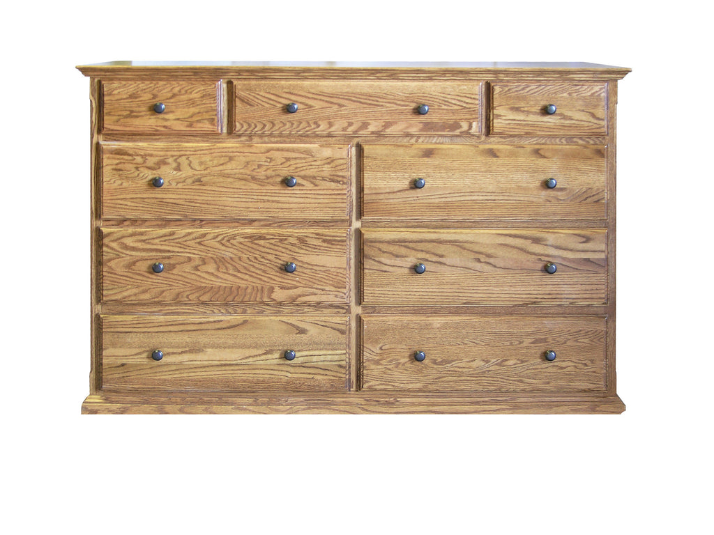 Forest Designs Traditional Nine Drawer Tall Dresser: 60W x 40H x 18D