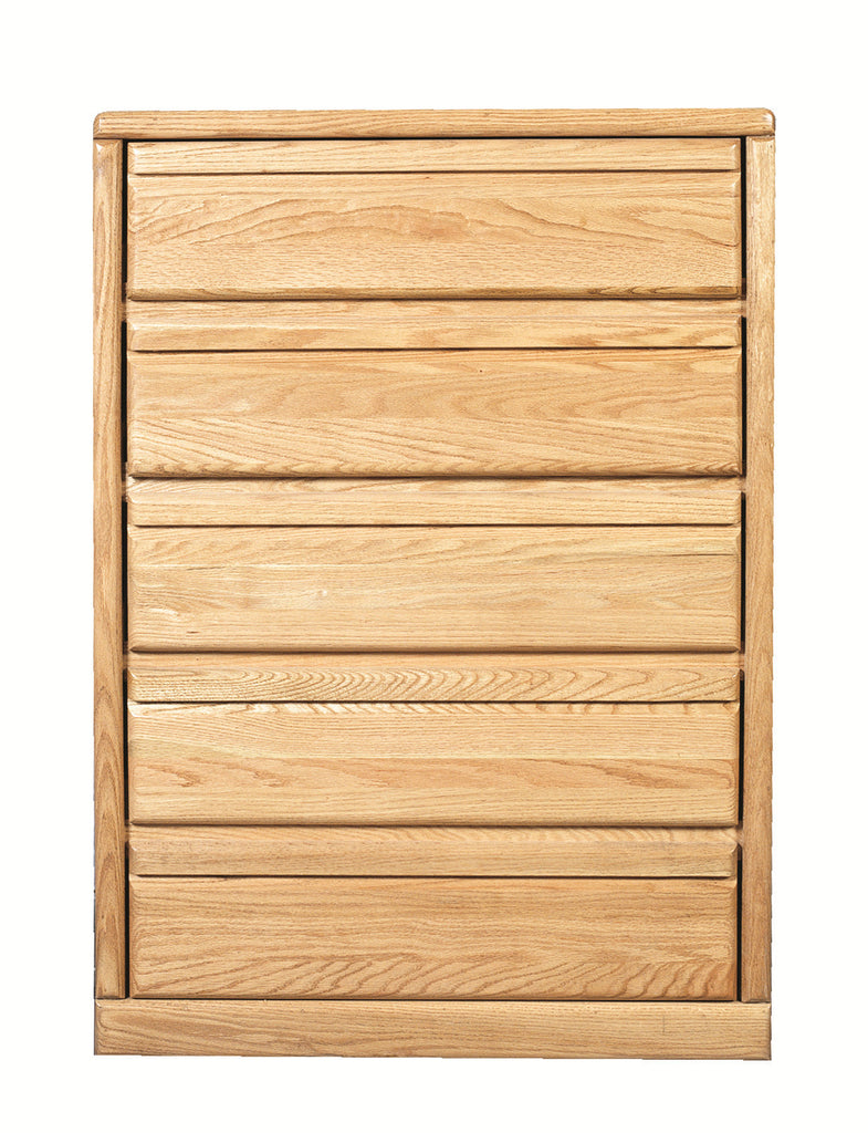 Forest Designs Bullnose Golden Five Drawer Chest: 34W x 48H x 18D