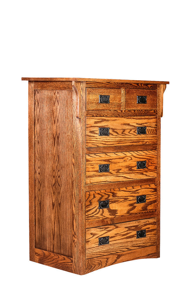 Forest Designs Arts & Crafts Six Drawer Dresser: 34W X 48H X 18D