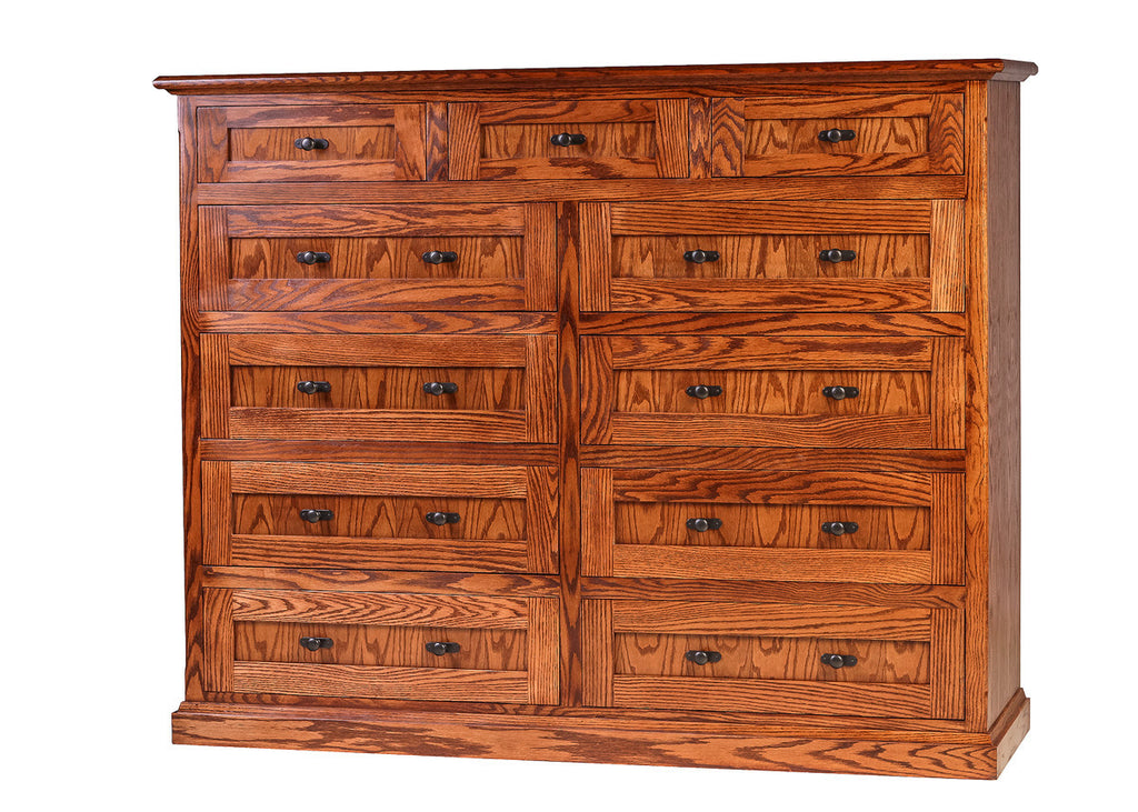 Forest Designs Mission Oak Eleven Drawer Chest: 34W x 48H x 18D