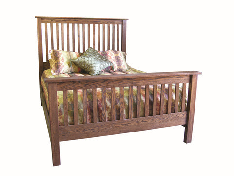 Forest Designs Mission Queen Slat Bed: 64W x 60H x 93D