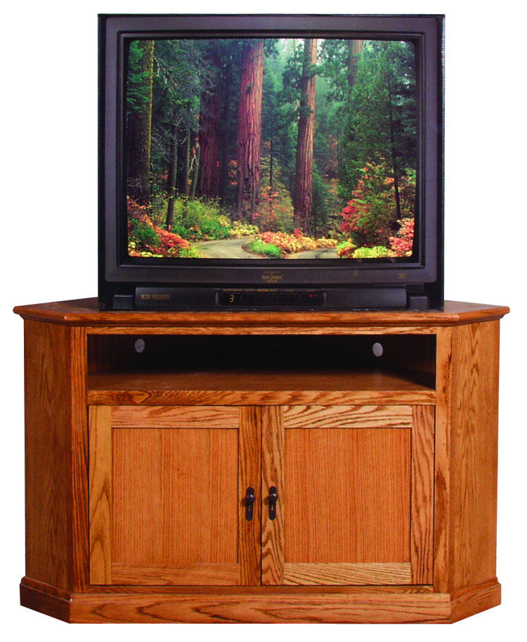 Forest Designs Mission Corner TV Stand: 51W x 32H x 32D