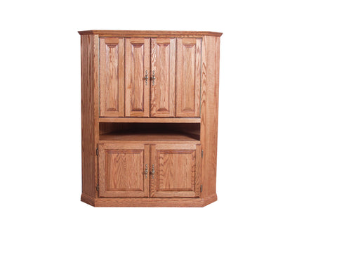 Forest Designs Traditional Corner TV Unit with Doors: 51W x 63H x 32D