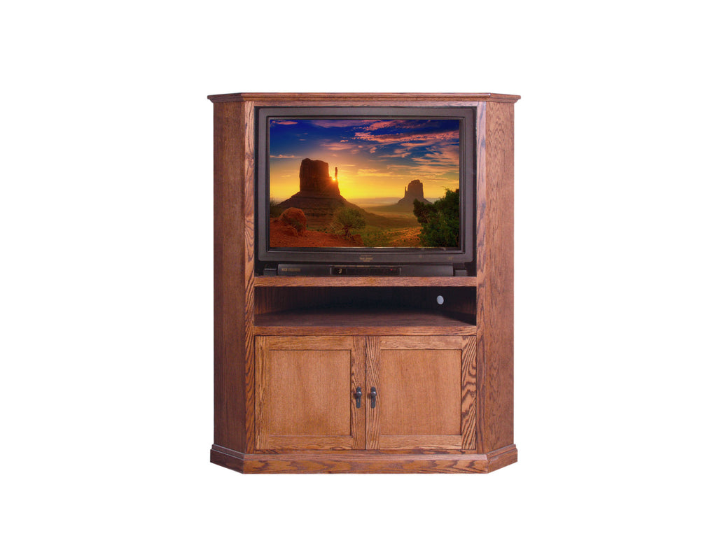 Forest Designs Mission Large Corner TV Unit: 63W x 63H x 32D
