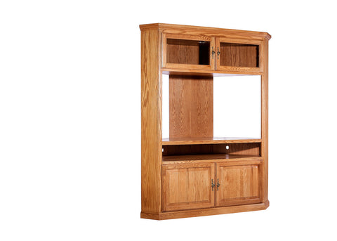 Forest Designs Traditional Oak Large Corner TV Unit: 63W x 79H x 32D