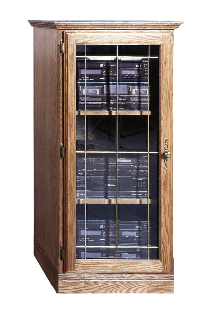 Forest Designs Traditional Oak Audio Tower With Glass Door (1): 25W X 45H