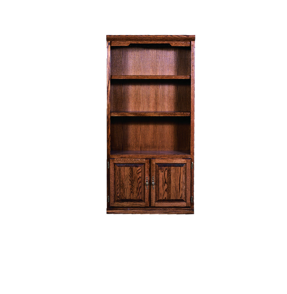 Forest Designs Traditional Bookcase with Lower Doors: 36W x 60H X 13D