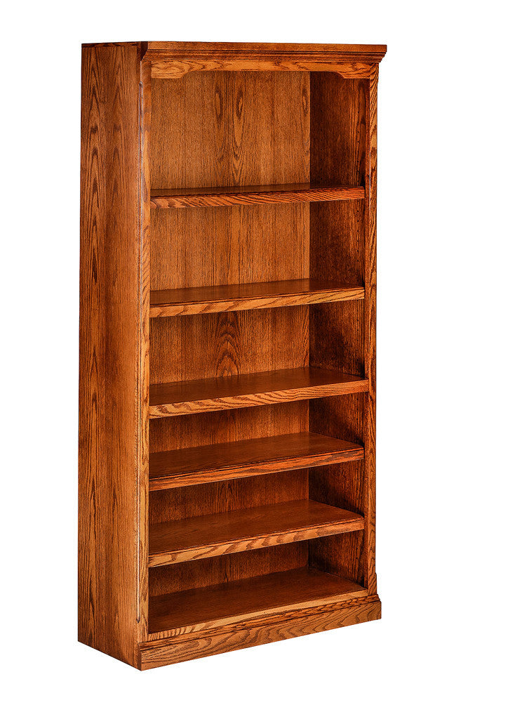 Forest Designs Traditional Oak Bookcase: 36W x 72H x 13D