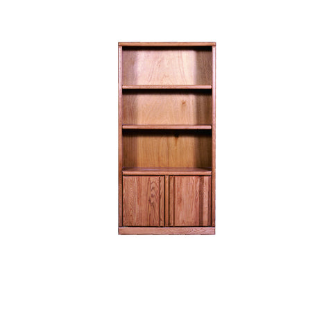 Forest Designs Bullnose Bookcase with Lower Doors: 36W x 72H X 13D