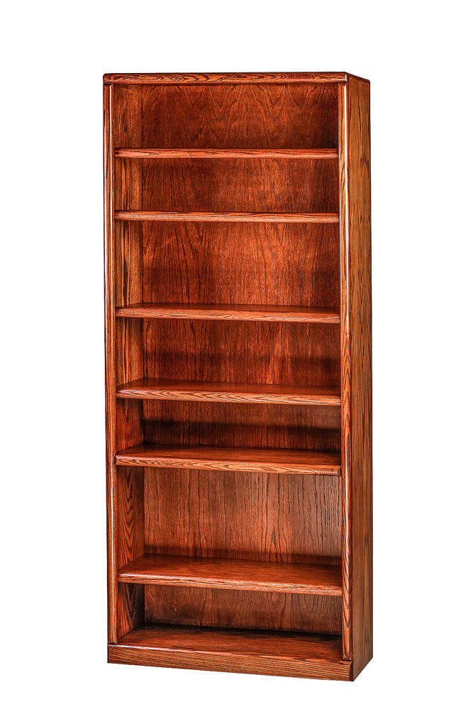 Forest Designs Bullnose Oak Bookcase: 36W x 84H x 13D