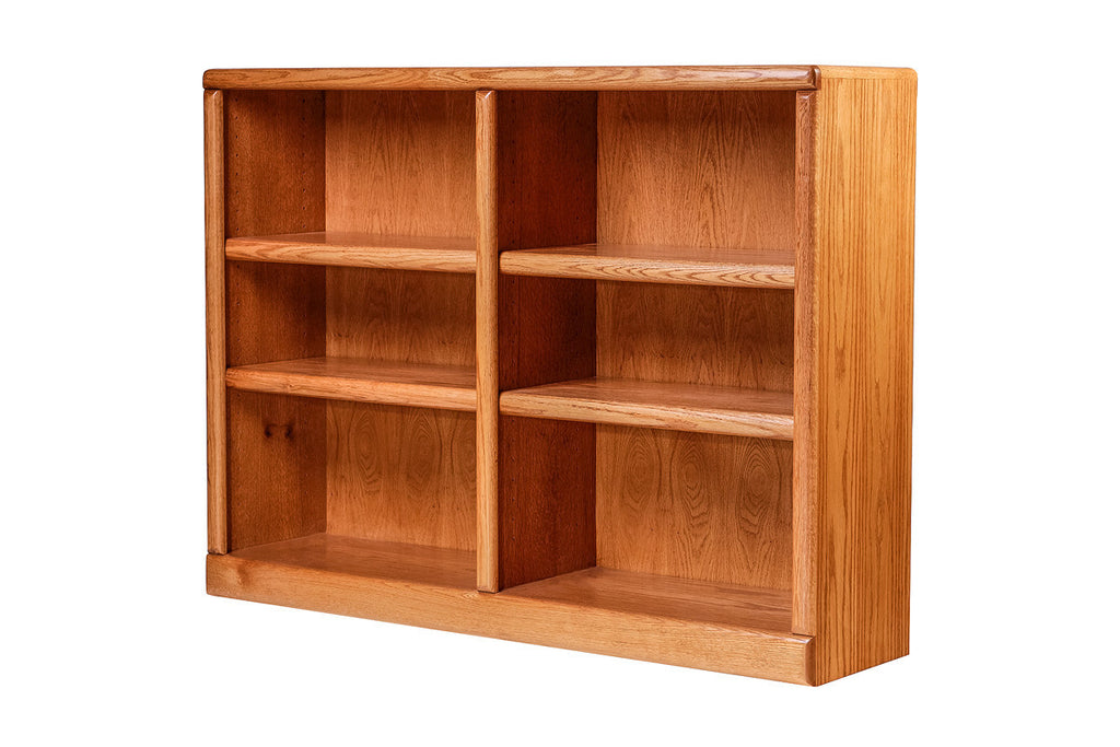 Forest Designs Bullnose Oak Bookcase: 48W x 36H x 13D