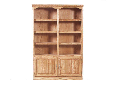 Forest Designs Traditional Bookcase with Lower Doors: 48W x 72H x 13D