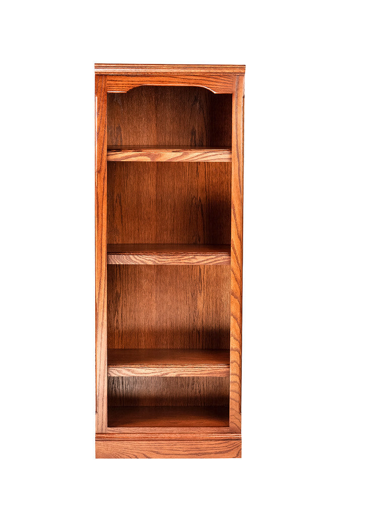 Forest Designs Traditional Oak Bookcase: 18W x 48H x 13D