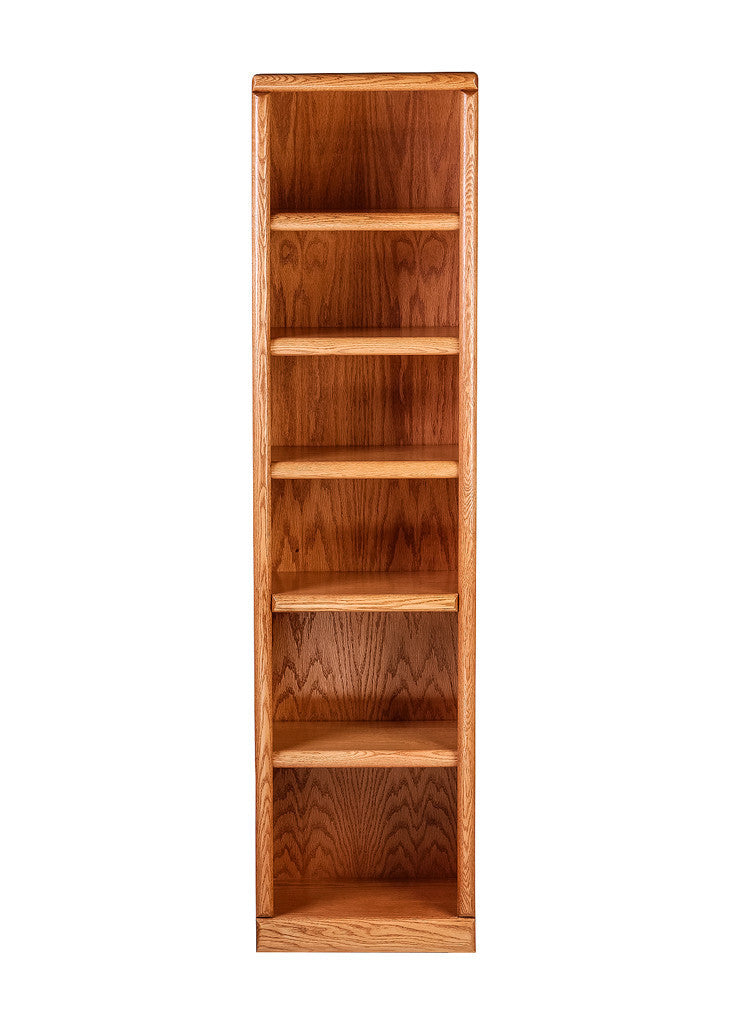 Forest Designs Bullnose Bookcase: 18W X 72H X 13D