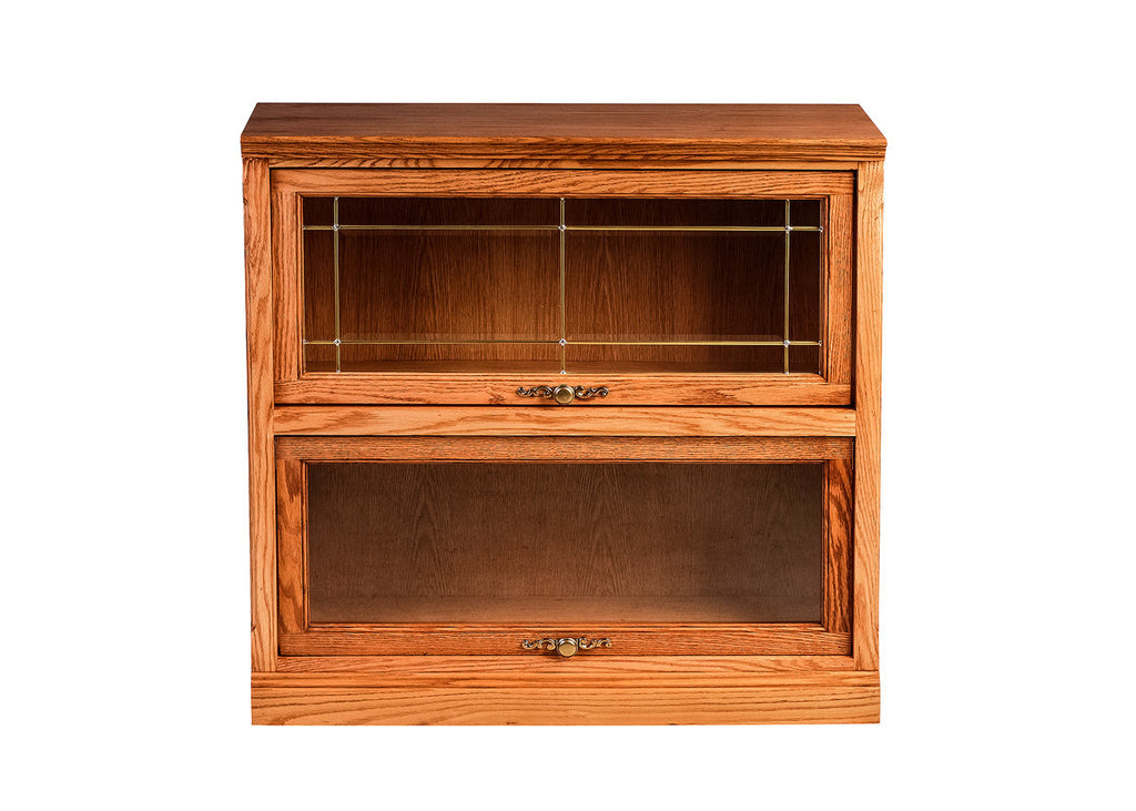 Forest Designs Traditional Lawyer Bookcase: 36W X 35H X 13D (Two Doors)