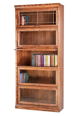 Forest Designs Traditional Oak Lawyers Bookcase: 36W x 79H(Five Doors) x 13D