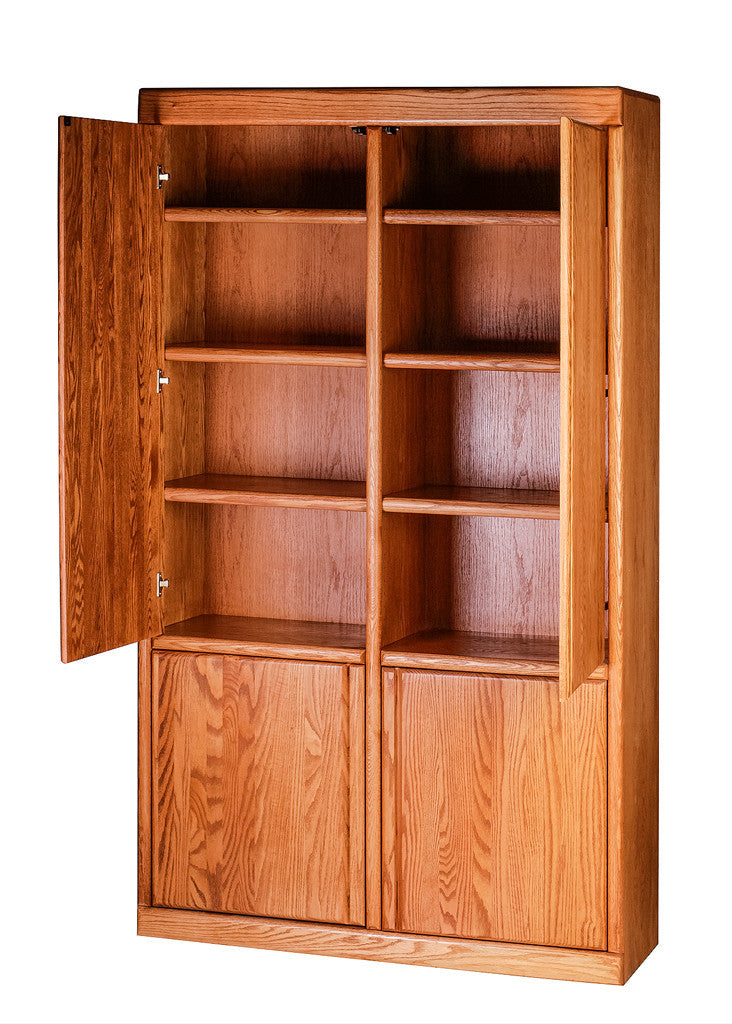 Forest Designs Bullnose Bookcase w/ Full Wood Doors: 48W X 84H X 18D